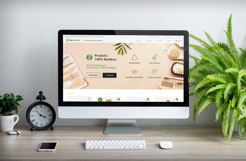 CAP BAMBOU site internet E commerce réalisation IDCOM